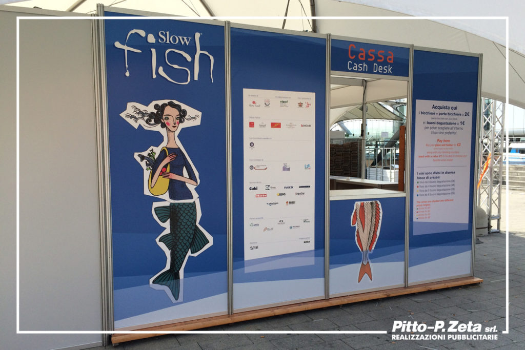 Allestimento Slow Fish 2017: pannelli stand.