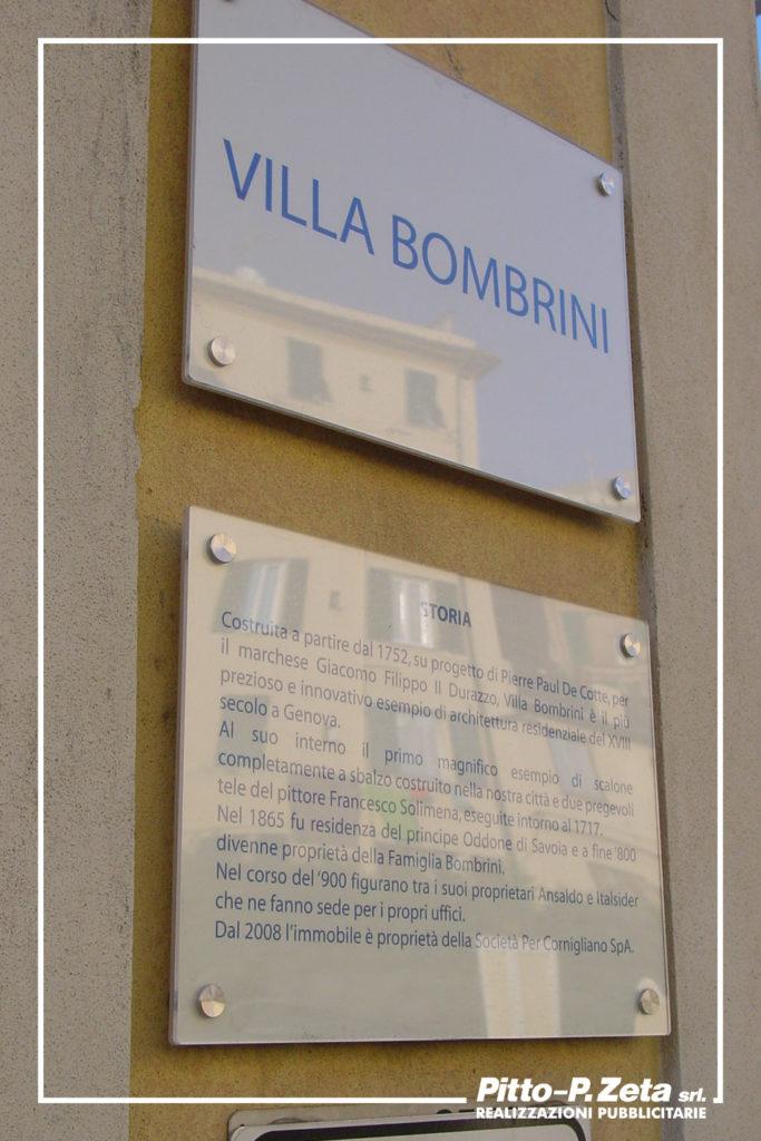 Società per Cornigliano: targhe esterne.